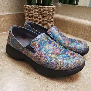 Dansko Winona Floral Print Loafer Shoes Size 39 9